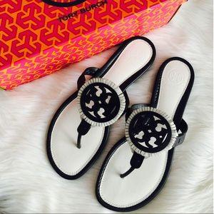 {Tory Burch} Miller Fringe Sandals
